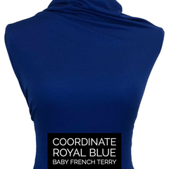 Knub Jersey (Poly Linen Blend) - Royal Blue