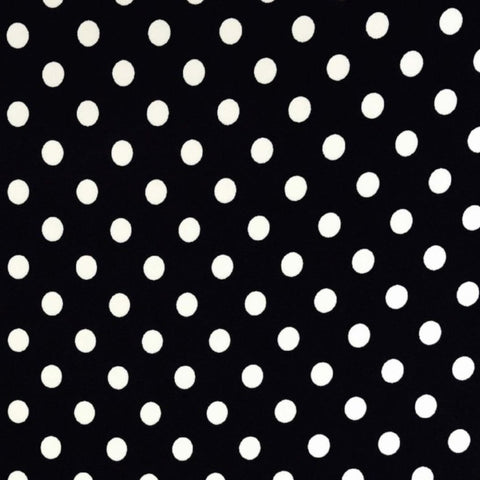 Double Brushed Poly Dots - Black