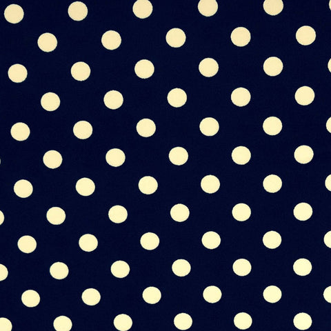 Double Brushed Poly Dots - Navy
