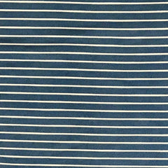 Double Brushed Poly Stripes - Chambray