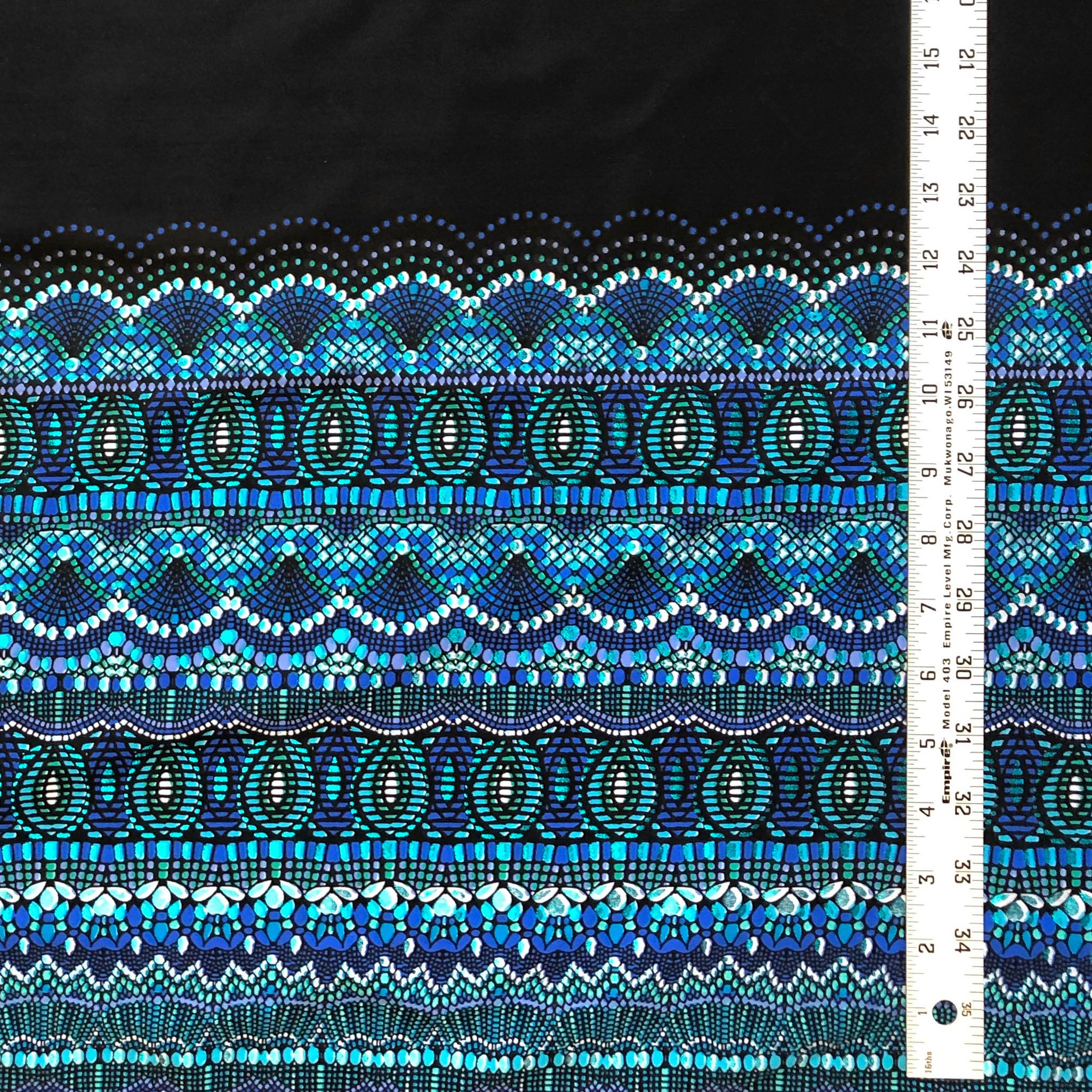 Swim Knit - Mosaic Border Print
