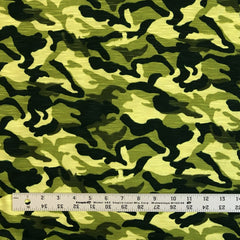 T-Shirt Jersey Knit Camo - Lime Green