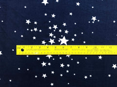 Double Brushed Poly Stars, FLAWED - Navy