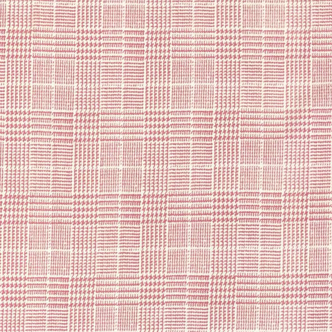 Double Brushed Poly Glen Plaid - Dusty Pink