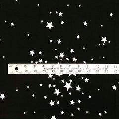 Double Brushed Poly Stars - Black