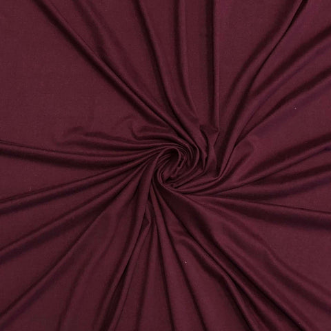 Double Brushed Poly Solid - Dark Raisin