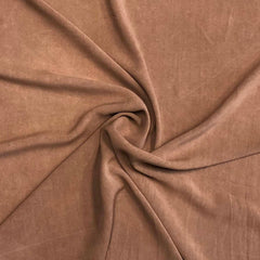 Rayon Challis Solid - Sandwashed Toasted Almond
