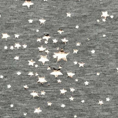 Baby French Terry Stars - Heather Gray with Gold Foil Stars