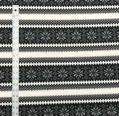 Techno Scuba - Fair Isle, Black & Ivory