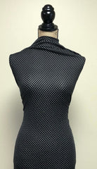 Rayon Spandex - Black & White Dots