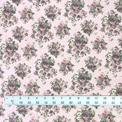 Tri-Blend Jersey - Small Roses in Pink