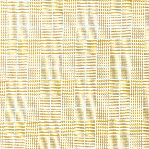 Double Brushed Poly Plaid - Mustard Baby Houndstooth