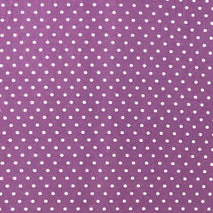 Double Brushed Poly Small Polka Dots - Lavender & Ivory