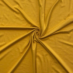 Double Brushed Poly Solid - Mustard Gold