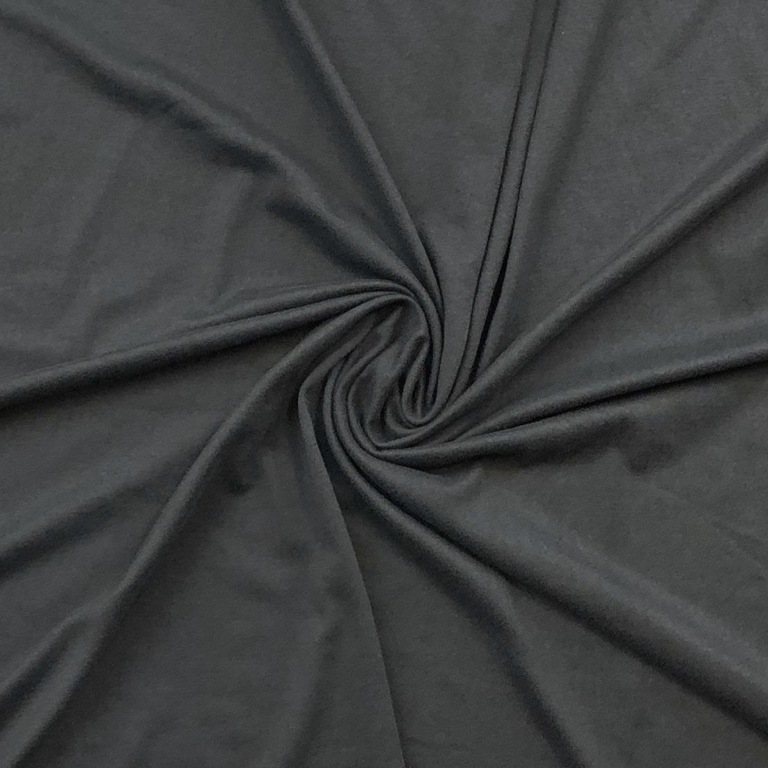Double Brushed Poly Solid - Charcoal