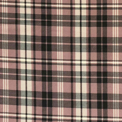 Double Brushed Poly Plaid - Mauve