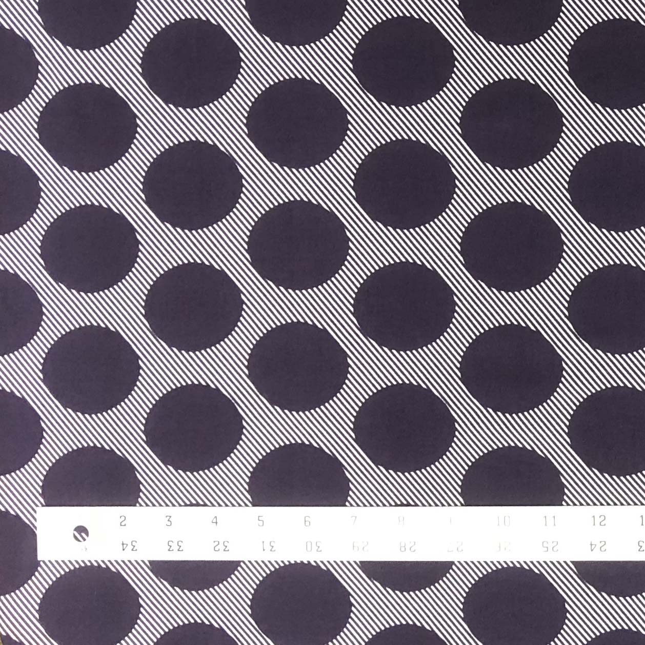 Double Brushed Poly Large Dots - Plum