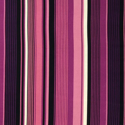 Double Brushed Poly Stripes (Vertical) - Purple