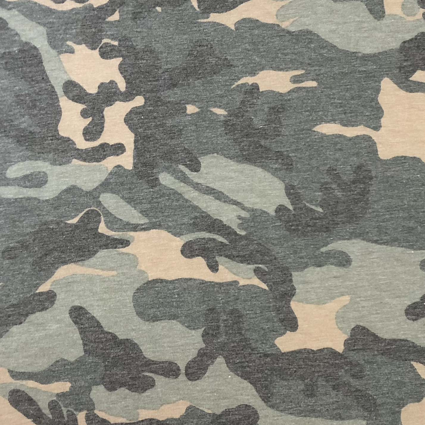 Poly Rayon Spandex Blend - Camo in Sage