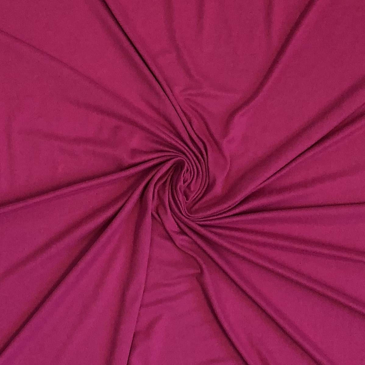 Double Brushed Poly Solid - Magenta