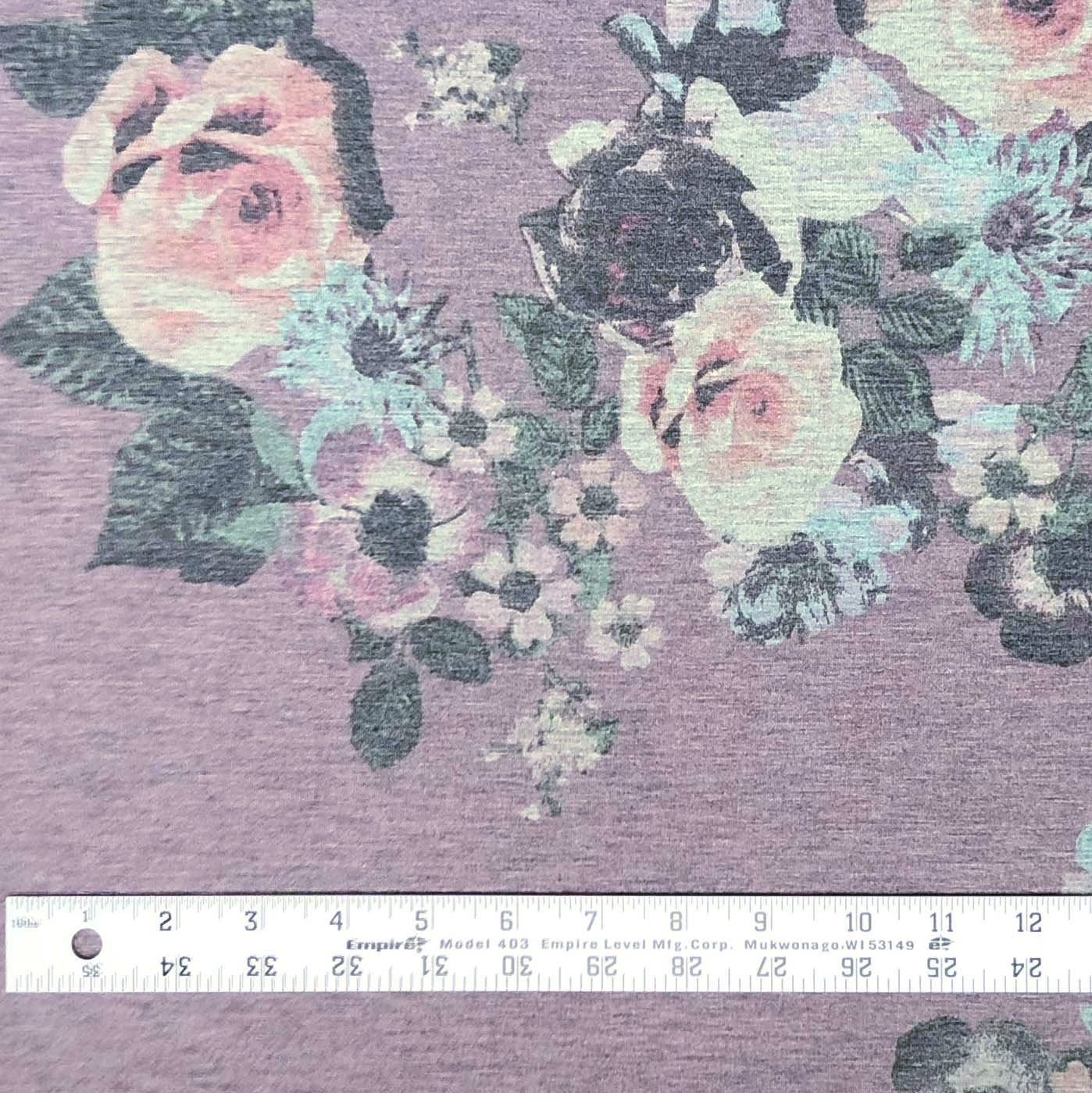 Baby French Terry - Twilight's Kiss in Heathered Plum