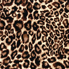 Double Brushed Poly - Animal Print in Latte
