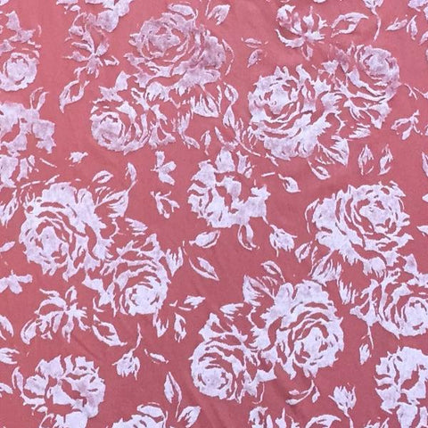 Burnout Velvet - Rose Baroque