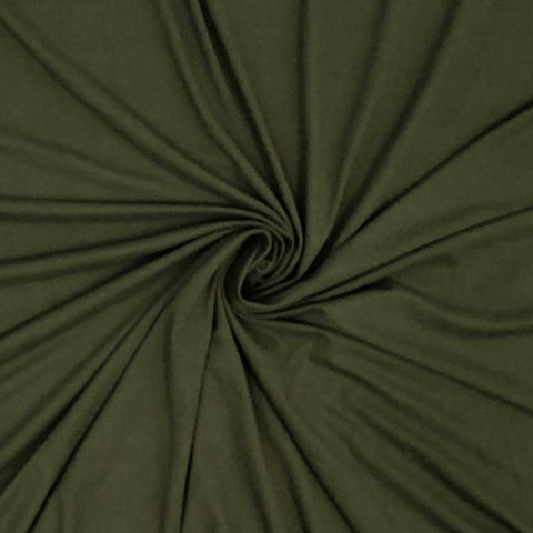 Double Brushed Poly Solid - Olive