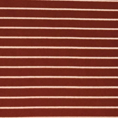 Double Brushed Poly Stripes - Rust