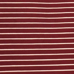 Double Brushed Poly Stripes - Cranberry