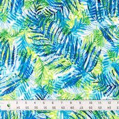 Double Brushed Poly - Cool Tropics