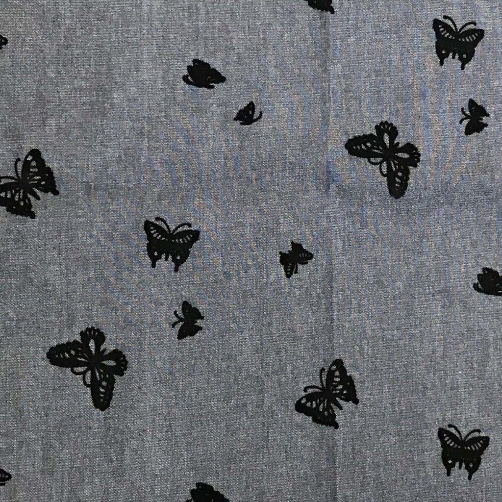 Denim - Flocked Butterflies