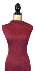 Knub Jersey (Poly Linen Blend) - Deep Red