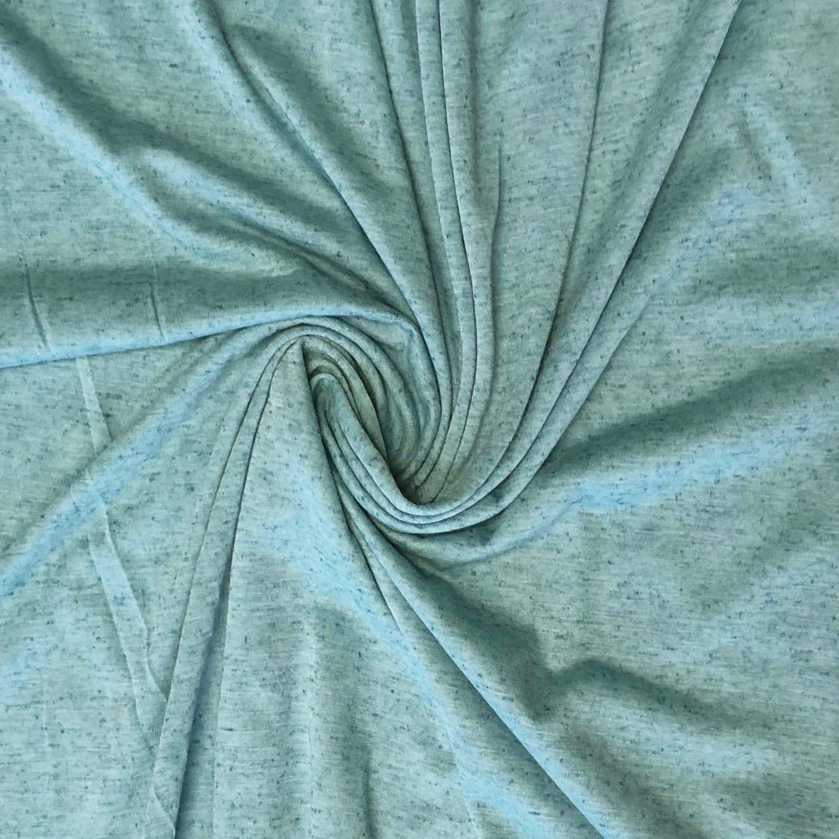 Knub Jersey (Poly Linen Blend) - Turquoise