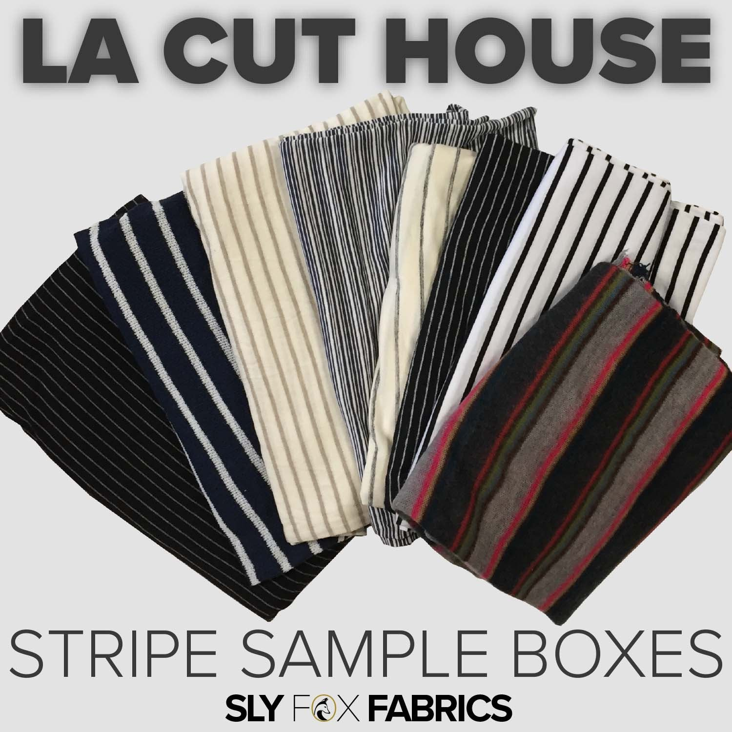 Cut House Stripe Sample Boxes