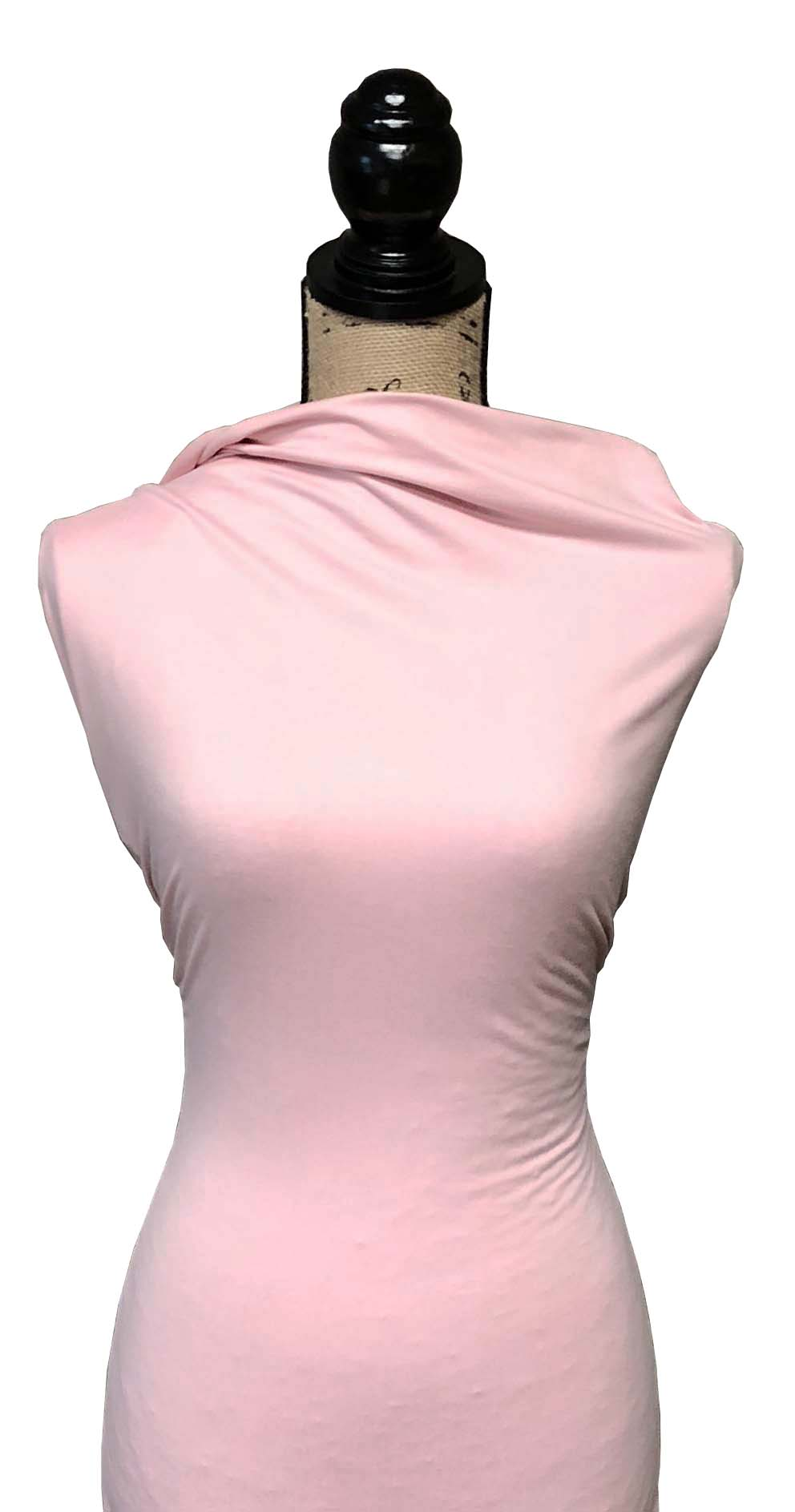 Double Brushed Poly Solid - Light Pink