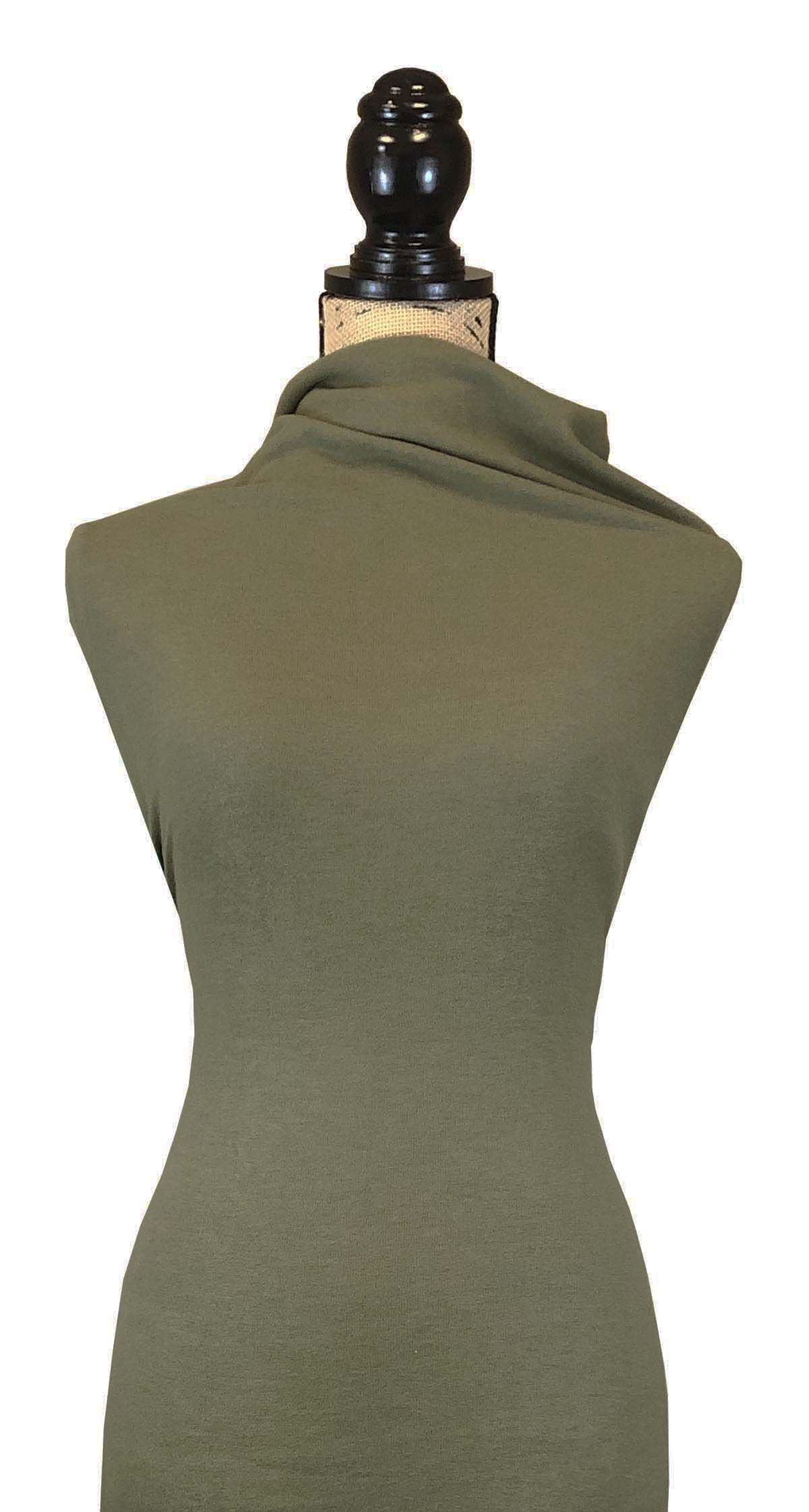 Double Brushed Sweater Knit - Light Olive