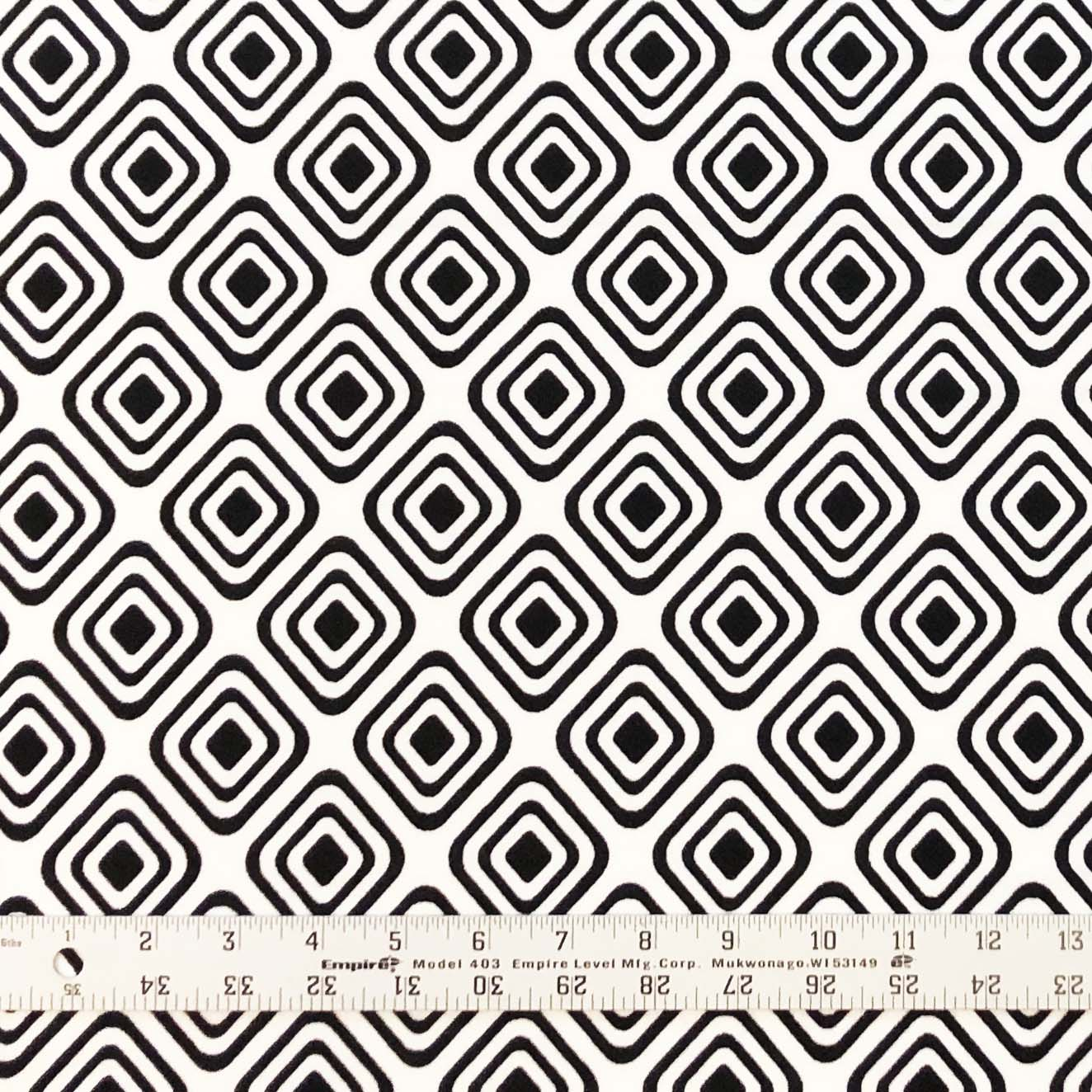 Liverpool - Geometric Print in Ivory & Black