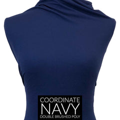 Double Brushed Poly - Pacifica in Navy