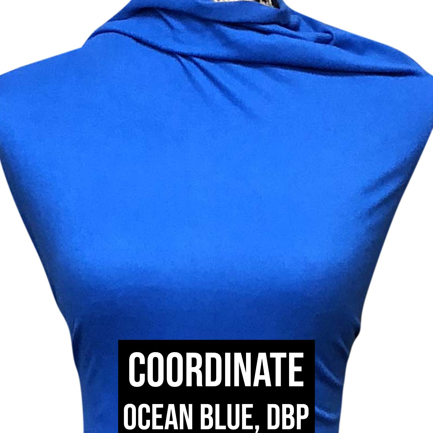 Double Brushed Poly Solid - Ocean Blue
