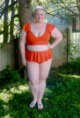 Swim Knit Solid - Orange Matte