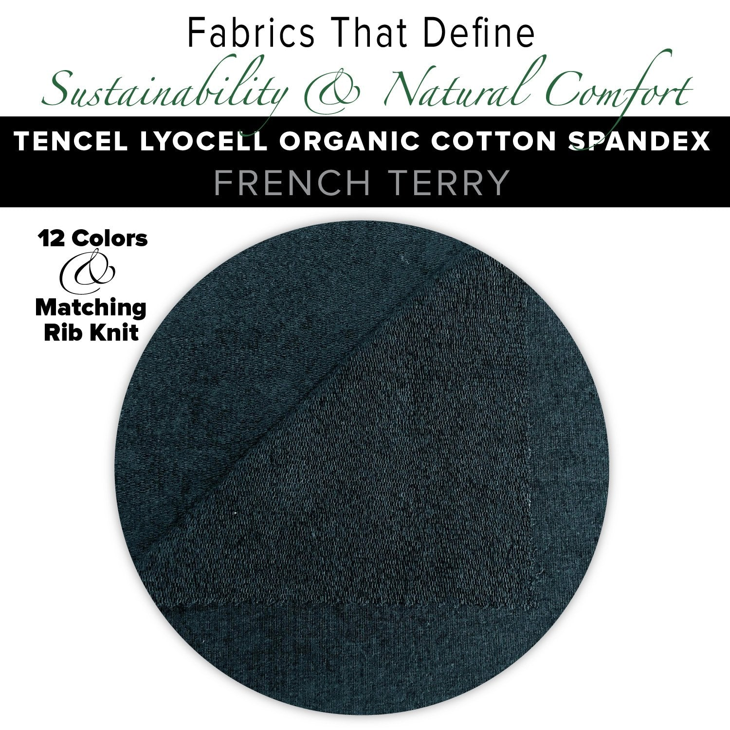 Natural Fabric: Tencel Lyocell Organic Cotton Spandex French Terry - Plum