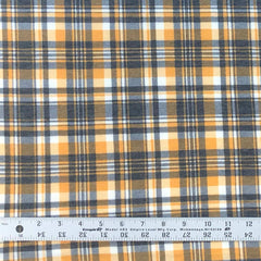 Poly Rayon Spandex Blend Plaid - Sunflower