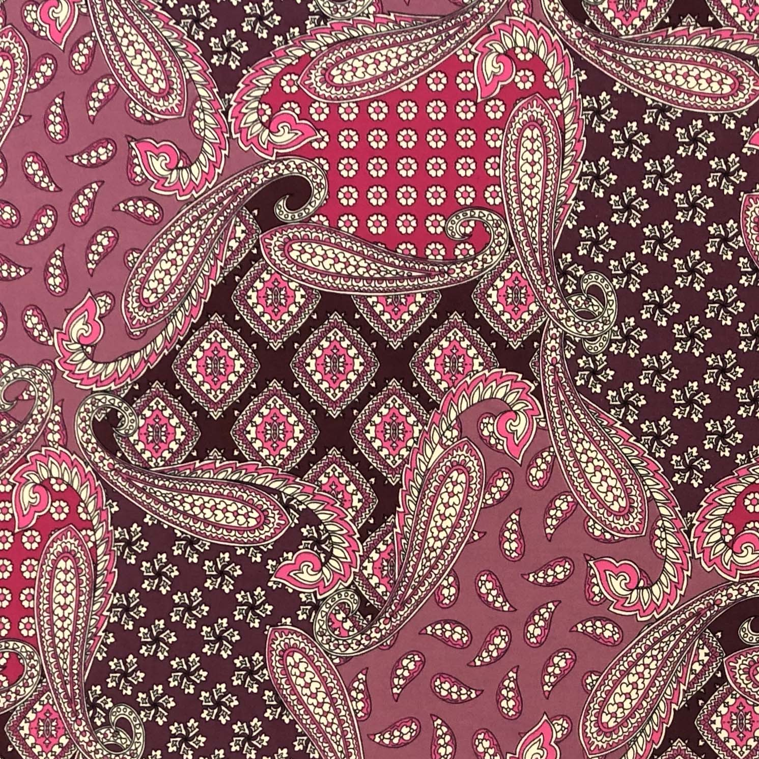 Double Brushed Poly - Patchwork Paisley