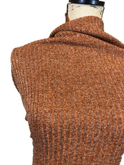 Sweater Knit Ribbed - Spiced Rum