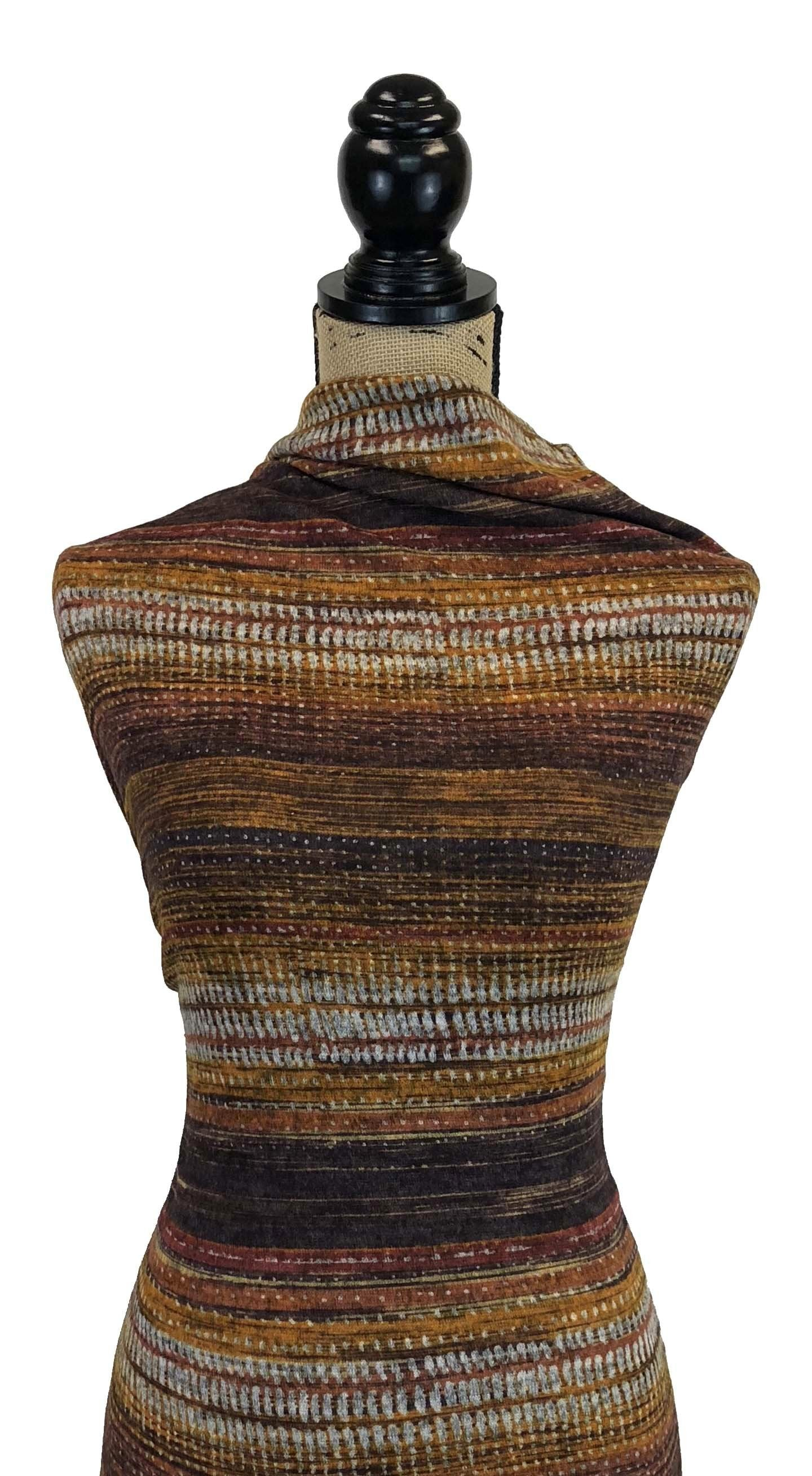 Brushed Sweater Knit - Amber Abstract