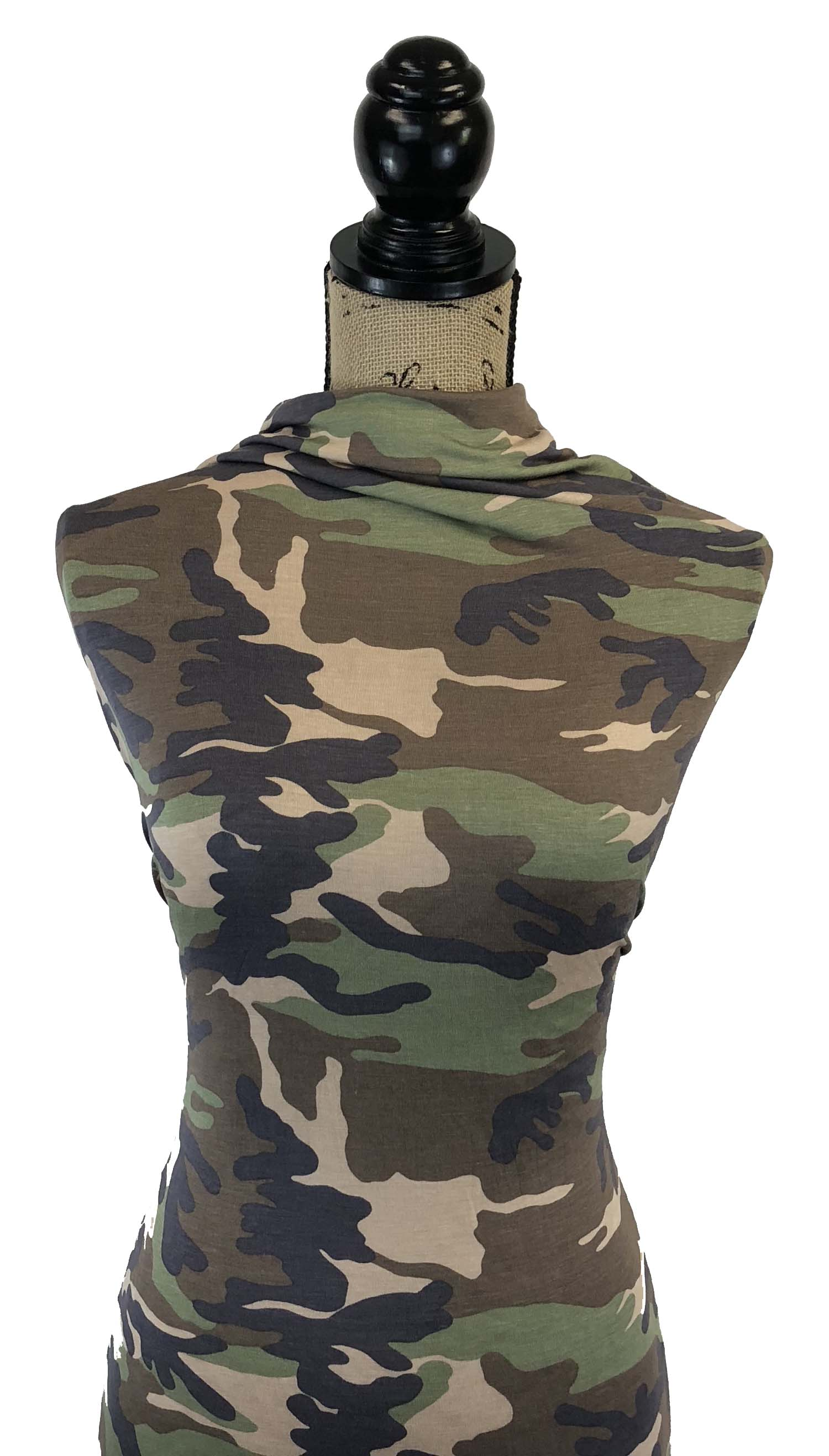 Rayon Spandex - Camo in Brown