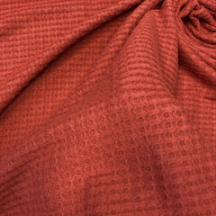 Brushed Thermal Waffle Knit - Pumpkin Spice Solid