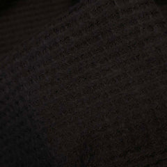 Brushed Thermal Waffle Knit - Black Solid