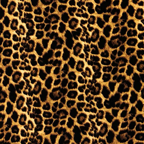 Double Brushed Poly - Animal Print in Brown